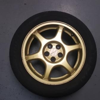 Subaru Impreza Gc8 Sti Oem Gold 16 Quot Alloy Wheels Jap